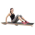 Seesaw board with non-slip surface, big, 160x60x13 cm, black