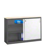 Slide door cupboard, HxWxD 100x160x40 cm