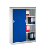 Slide door cupboard, HxWxD 160x120x40 cm