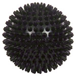 Spiky Massage Ball, ø 10 cm, black, hard