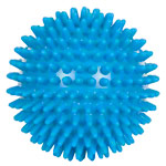 Spiky Massage Ball,  ø 10 cm, neon-blue, soft