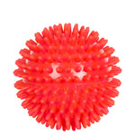 Spiky Massage Ball, ø 9 cm, red, medium