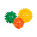 Spiky Massage Ball medium, Set of 3: 1x ø 6 cm, ø 7 cm, ø 8 cm