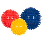 Spiky Massage Ball medium, Set of 3: 1x ø 8 cm, ø 9 cm, ø 10 cm