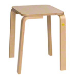 Stool 48 made of shaped wood, 36x36 cm, seat height 48 cm