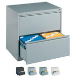 Suspension filing cabinet with 2 drawers, LxWxH 73,3x78,7x59 cm, with two lanes