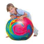 TOGU gymnastics power ball ABS marble, Ø 45 cm, colourful