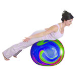 TOGU gymnastics power ball ABS marble, Ø 55 cm, colourful