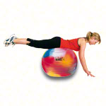 TOGU gymnastics power ball ABS marble, Ø 75 cm, colourful