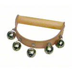 Tambourine made of leather, 5 bells