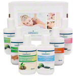 Test set massage lotion, 6 bottles of 50 ml