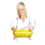 Thera-Band Loop, Ø 20 cm, 7.6x30.5 cm, lightweight, yellow