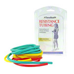 Thera-Band Tubing Set lightweight, yellow, red, green, each 1.5 m