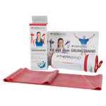 Thera-Band incl. bag, 2.50 x 12.8 cm, medium, red