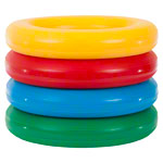 Throwing and tennis rings Ø18 cm, set of 4