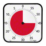 Time Timer MAX table clock with acoustic signal, 5 min. to 120 min., 40x40 cm