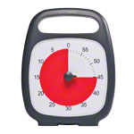 Time Timer Plus Table Clock with acoustic signal, 60 Min., 14x18 cm