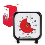 Time Timer Table Clock with acoustic signal, small, 7,5x7,5 cm