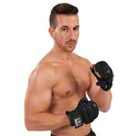 U.N.O. Sports fitness glove Black Combat, size L-XL, pair