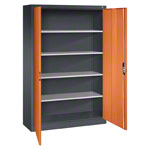 Universal cupboard with doors, HxWxD 195x120x40 cm