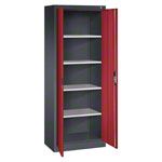 Universal cupboard with doors, HxWxD 195x70x40 cm