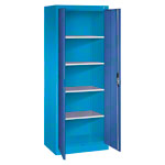 Universal cupboard with doors, HxWxD 195x70x50 cm