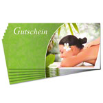 Voucher - wellness - , 25 pieces, DIN long format
