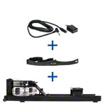 WaterRower rowing machine Shadow, incl. S4 Monitor, Heart rate receiver and chest strap POLAR T31, set 3-pcs.