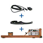 WaterRower rowing machine cherry incl. S4 Monitor, Heart rate receiver and chest strap POLAR T31, set 3-pcs.