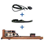 WaterRower rowing machine nut tree incl. S4 Monitor, Heart rate receiver and chest strap POLAR T31, set 3-pcs.