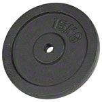 Weight plate made of cast iron, Ø 3 cm, 15 kg, one piece