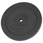 Weight plate made of cast iron, Ø 3 cm, 20 kg, piece