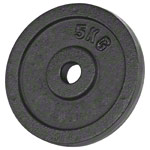 Weight plate made of cast iron, Ø 3 cm, 5 kg, piece