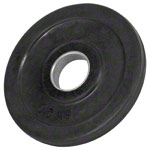 Weight plate with rubber coating, Ø 3 cm, 0.5 kg, one piece