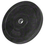 Weight plate with rubber coating, Ø 3 cm, 10 kg, one piece