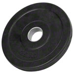 Weight plate with rubber coating, Ø 3 cm, 1.25 kg, one piece