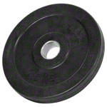 Weight plate with rubber coating, Ø 3 cm, 2.5 kg, one piece