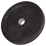 Weight plate with rubber coating, Ø 3 cm, 5 kg, one piece