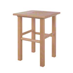 Wooden stool made of hardwood LxWxH 35x35x45 cm