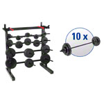 pumpset! -stand system with 10 barbell sets, 91-pcs.