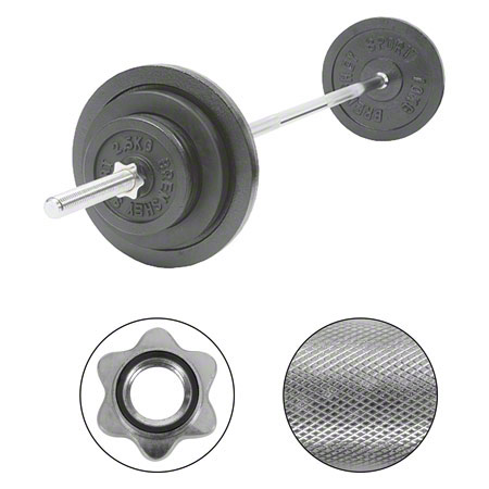 Barbell Set, 50 kg, 9 pcs