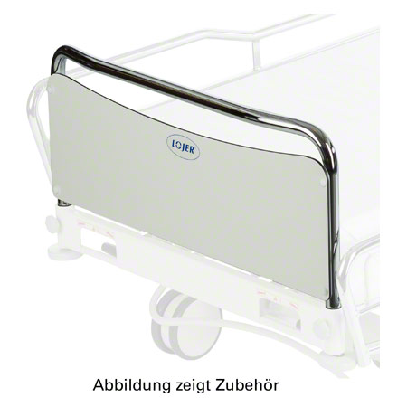 End of the bed 90 cm, chrome for Lojer hospital bed