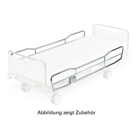 Side rails chrome, pair, normal length, height 35 cm